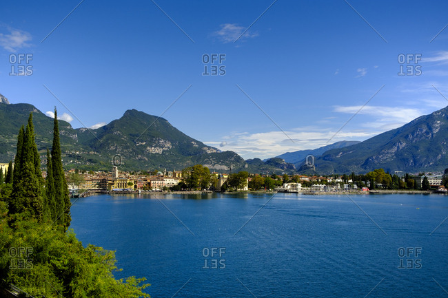Italy- Trentino- Lake Garda- Riva del Garda- townscape