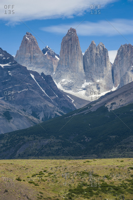 Chile- Patagonia- Torres del Paine National Park- mountainscape
