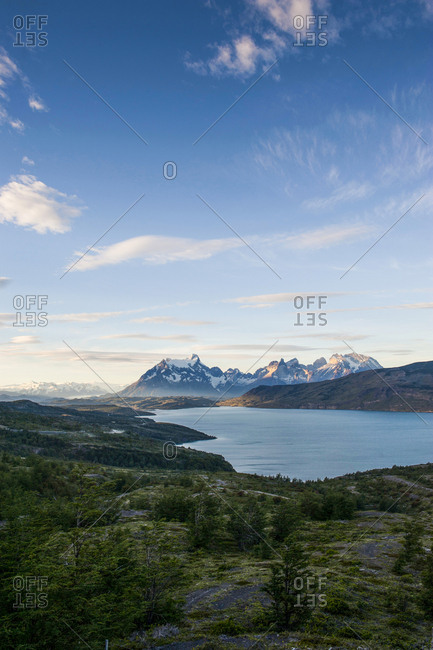 Chile- Patagonia- Late afternoon light in Torres del Paine National Park
