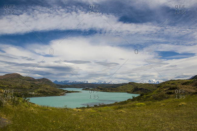 Chile- Patagonia- Torres del Paine National Park- Turquoise lake