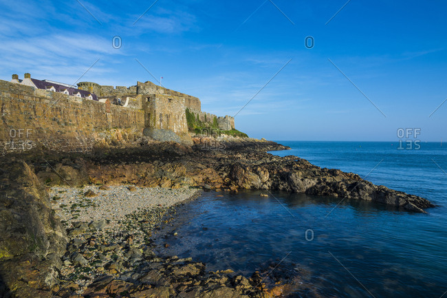 United Kingdom- Channel islands- Guernsey- Saint Peter Port- Cornet castle