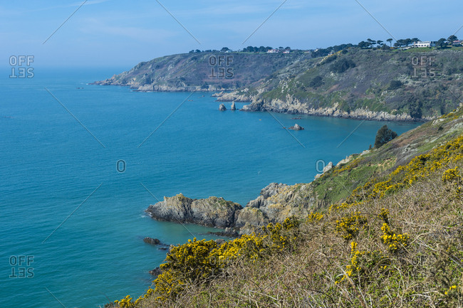 United Kingdom- Channel islands- Guernsey- overlook over the south coast