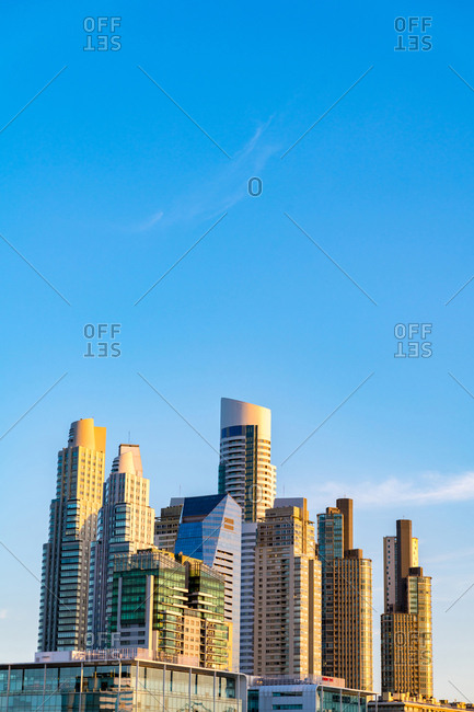 January 20, 2015: Argentina- Buenos Aires- Puerto Madero- view on modern architecture