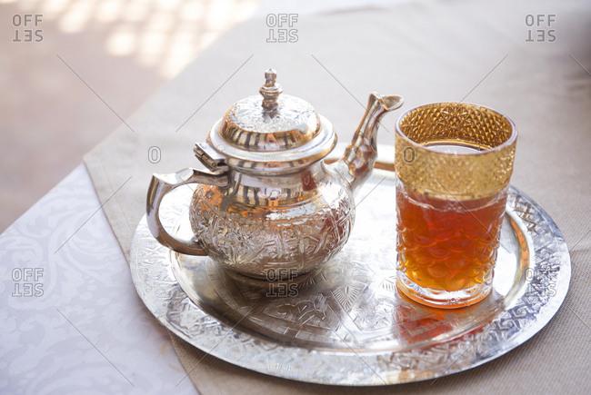 Fancy tea set, Fes, Morocco