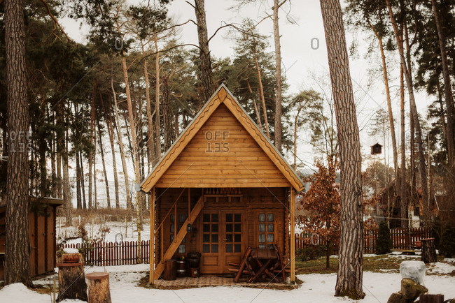 Quaint wooden cabin