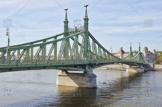 April 14, 2018: The Liberty bridge, Budapest, Hungary