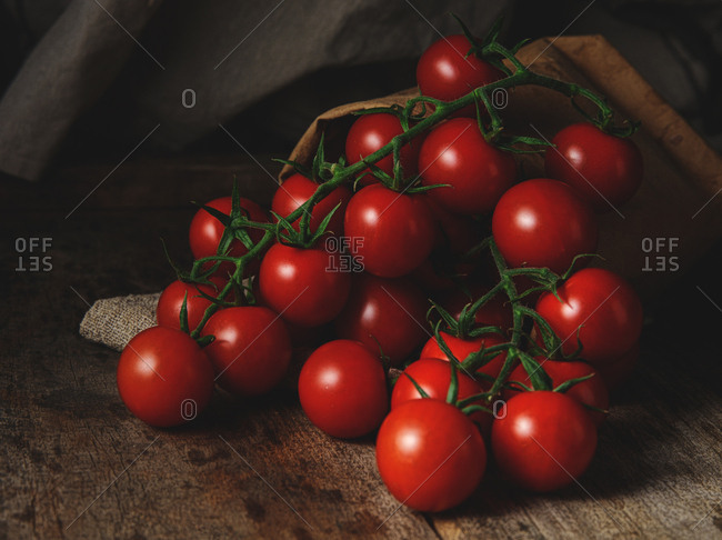 Bunch of bright red tomatoes