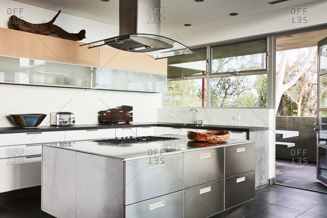Los Angeles, CA -  January 1, 2016: Modern kitchen