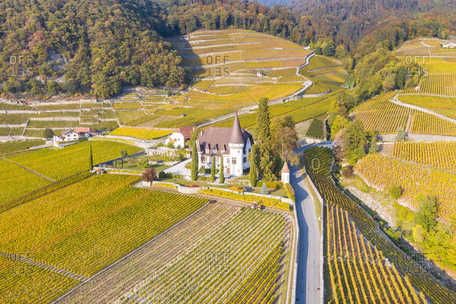 Chateau Maison Blanche, Yvorne, Canton of Vaud, Switzerland