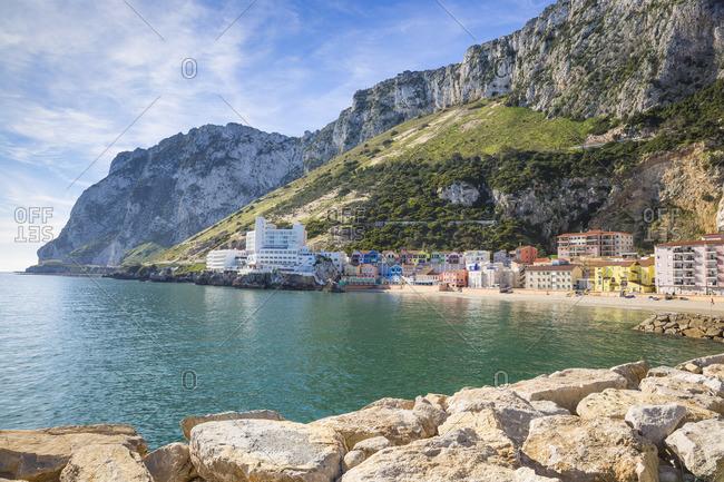 December 2, 2018: Gibraltar, Catalan Bay, The Caleta Hotel