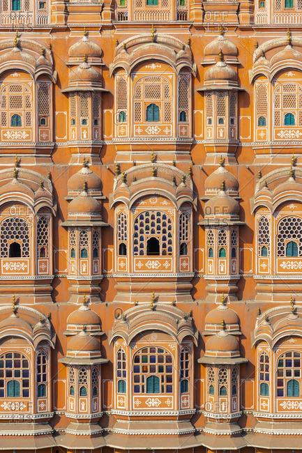 India, Rajasthan, Jaipur, Hawa Mahal (Palace of Wind)