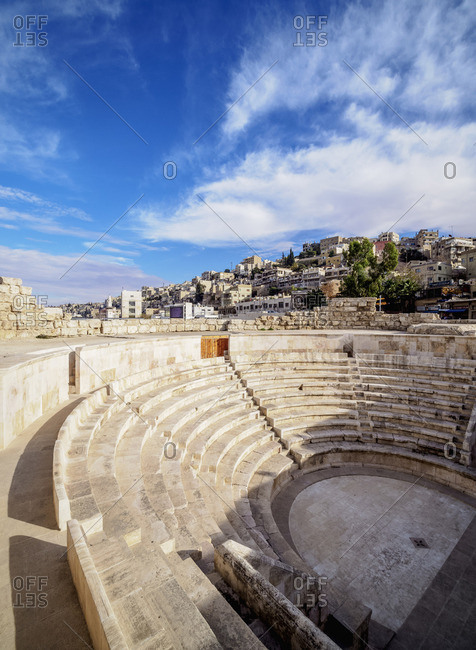 November 27, 2018: Roman Odeon Theater, Amman, Amman Governorate, Jordan