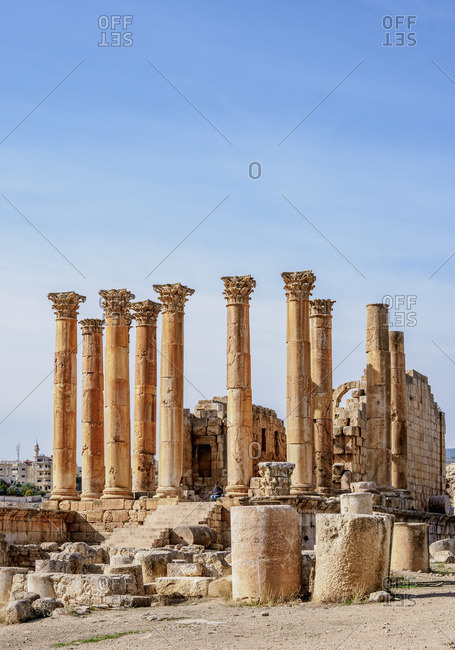 November 28, 2018: Temple of Artemis, Jerash, Jerash Governorate, Jordan