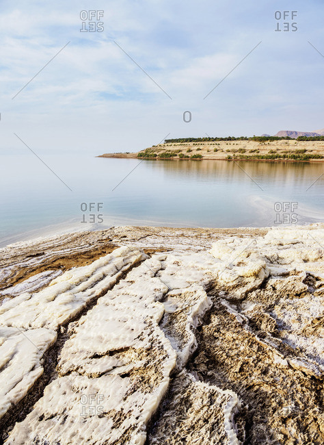 Salt Formations on the shore of the Dead Sea, Karak Governorate, Jordan