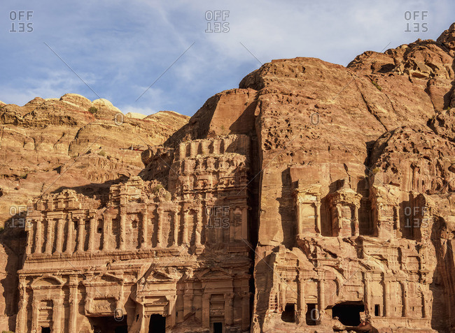 Palace and Corinthian Tombs, Petra, Ma'an Governorate, Jordan