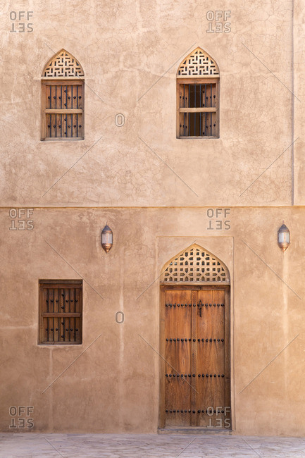 A renovated facade in Bahla fort,  Oman