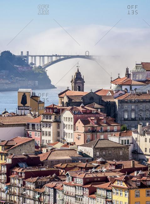 September 28, 2017: View towards Arrabida Bridge, Porto, Portugal