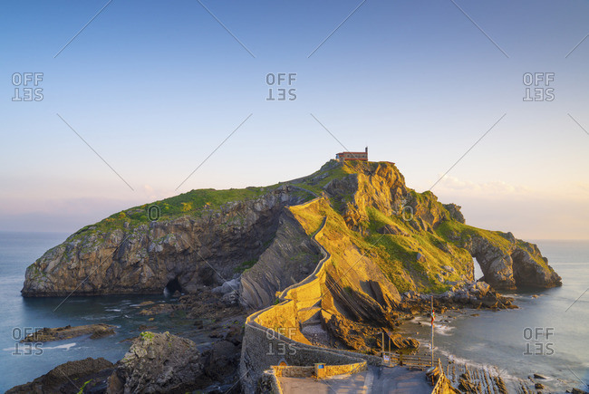 Spain, Basque country, San Juan de Gaztelugatxe, view of islet