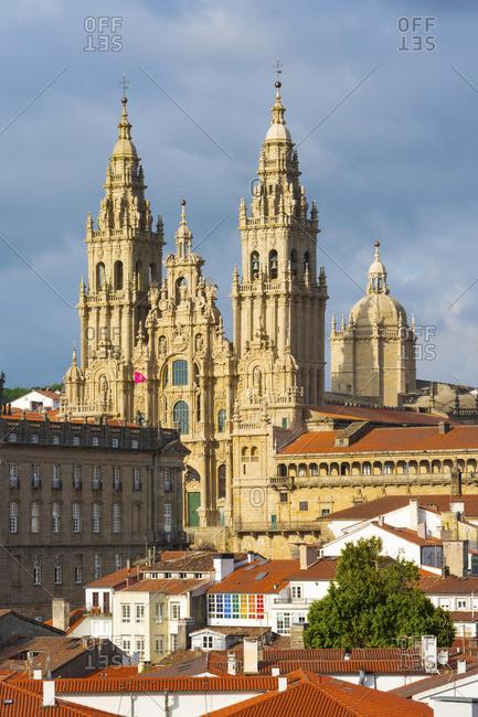 Spain, Galicia, Santiago de Compostable, cathedral. UNESCO World Heritage site