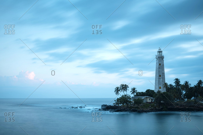 Dondra Lighthouse at twilight, South Coast, Sri Lanka, Asia