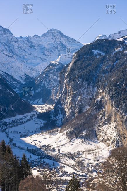 Lauterbrunnen valley, Berner Oberland, canton of Bern, Switzerland