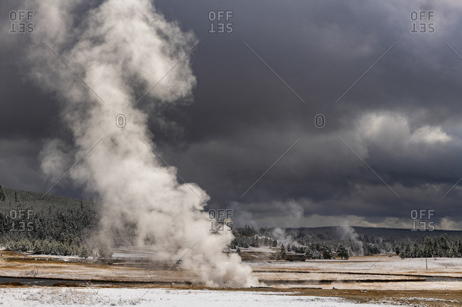 Fire hole River, Lower Geyser Basin, Yellowstone National Park, Wyoming, USA