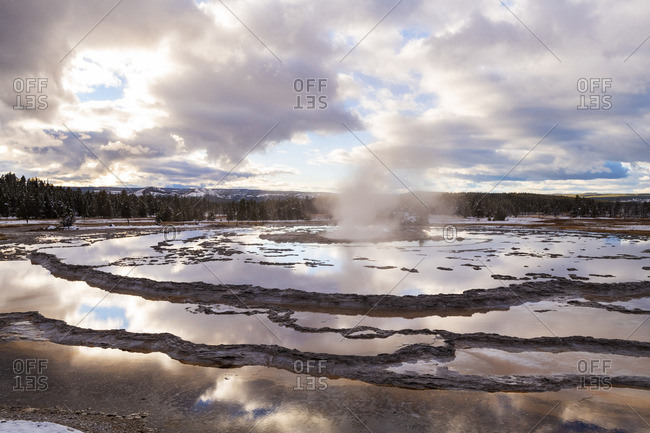 Fire hole Spring, Lower Geyser Basin, Yellowstone National Park, Wyoming, USA
