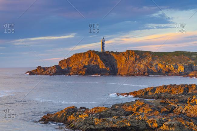 Spain, Galicia, La Coruna, Meiras, Punta Frouxeira lighthouse