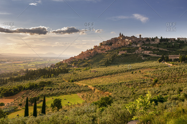 Italy, Umbria, Perugia district, Trevi.