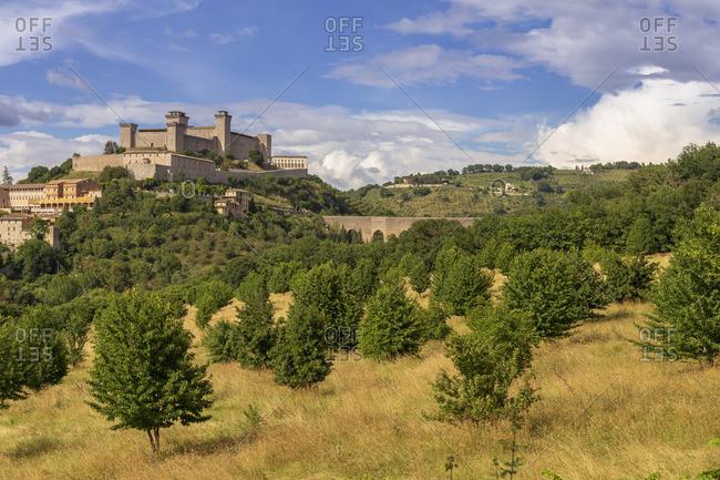 Italy, Umbria, Perugia district, Spoleto, Rocca Albornoz