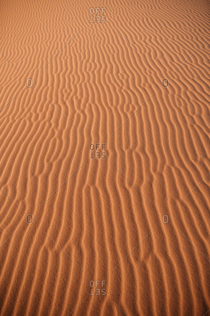 Desert natural patterns in Erg Chebbi, Morocco