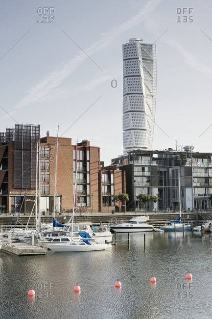 August 8, 2009: View of Turning Torso, Malmo, Sweden