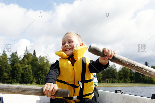 Boy on boat - Offset Collection