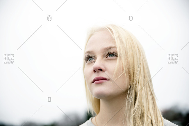 Young woman with blond hair
