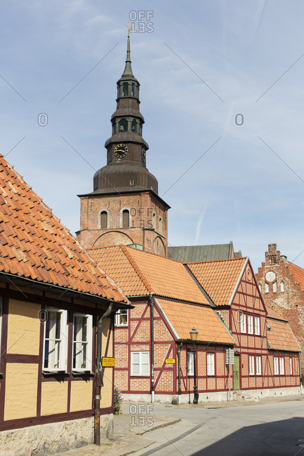 Sweden - August 21, 2012: Church and old buildings