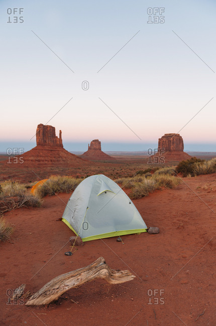 USA- Utah- Monument Valley- tent camp