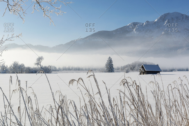 Germany- Upper Bavaria- Werdenfelser Land- Kochel- winter landscape