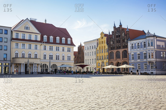 May 13, 2018: Germany- Mecklenburg-Western Pomerania- Stralsund- Old town- old market square