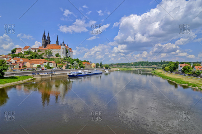 Germany- Meissen- townscape with Albrechtsburg