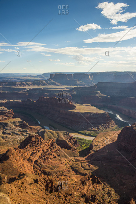 USA- Dead Horse Point State Park- Overlook over the canyonlands and the Colorado river
