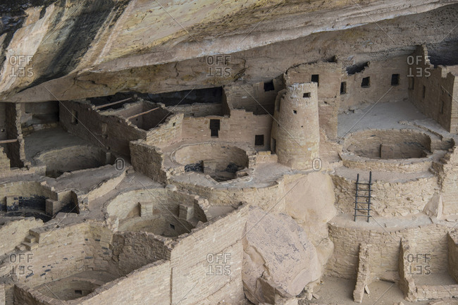 USA- Colorado- Mesa Verde National Park- Cliff Palace- indian dwelling