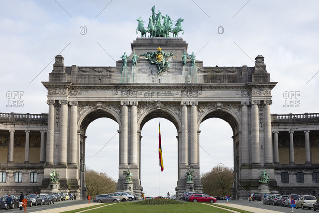 January 29, 2019: Belgium- Brussels- Triumphal arch