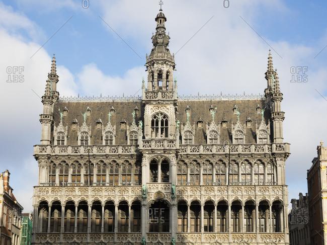 Belgium- Brussels- Grand Place- Maison du Roi- facade
