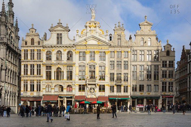 January 30, 2019: Belgium- Brussels- Grand Place- guild houses