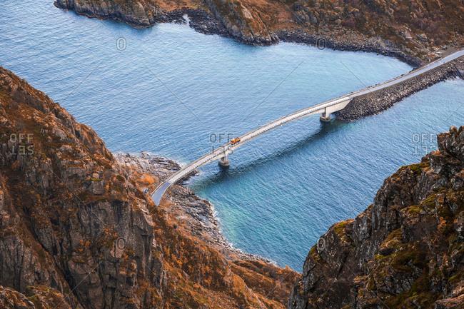 Norway- Lofoten Islands- Henningsvaer- bridge