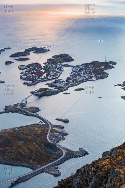 Norway- Lofoten Islands- Henningsvaer and evening light