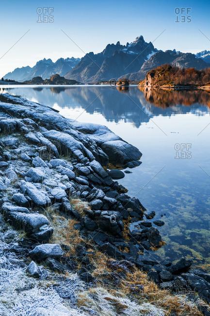 Norway- Lofoten Islands- coast and sea