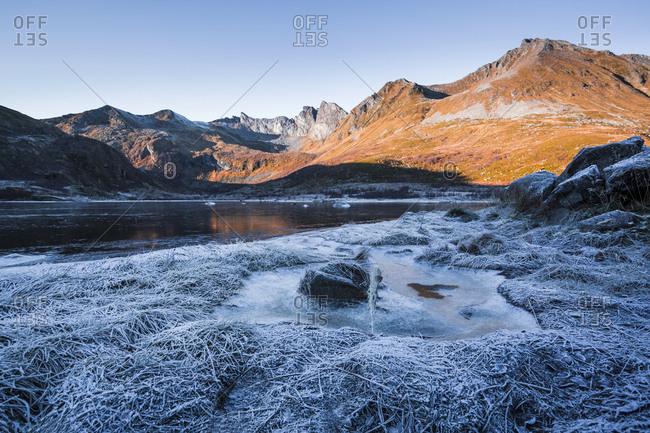 Norway- Lofoten Islands- winter landscape