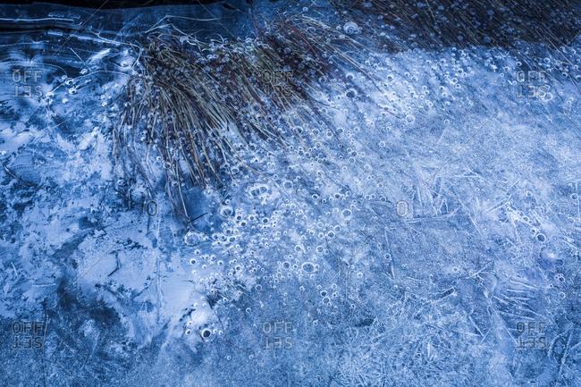 Norway- Lofoten Islands- frozen water