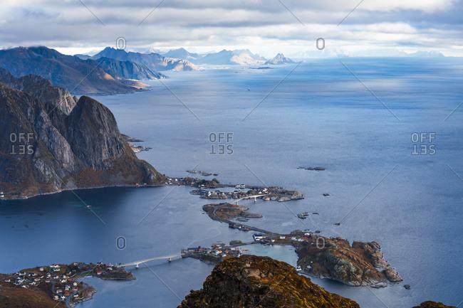 Norway- Lofoten Islands- Reine- View from Reinebringen